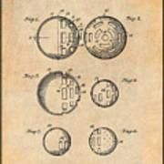 1954 Wiffle Ball Patent Print Antique Paper Art Print