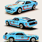 1969 Ford Mustang Boss 302 Art Print