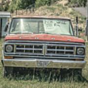 1971 Ford Pickup Truck For Sale In Utah Art Print