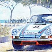 1973 Targa Floria Porsche 911 Carrera Rsr Martini Racing Lennep Muller Winner  Art Print