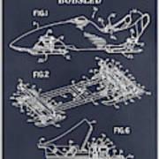 1982 Bobsled Blackboard Patent Print Art Print