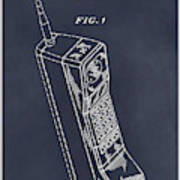 1988 Motorola Cell Phone Blackboard Patent Print Art Print