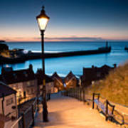 199 Steps Of  Whitby In The  North Art Print