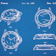 1999 Rolex Diving Watch Patent Print Blueprint Art Print