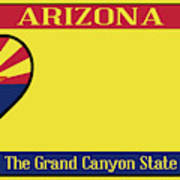 Arizona State License Plate Art Print