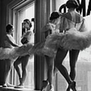 Ballerinas Standing On Window Sill In Art Print