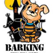 Barking Spider Halloween Design For Dog Lovers Light Art Print