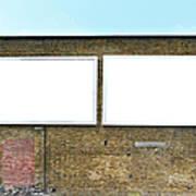 2 Blank Billboards Art Print