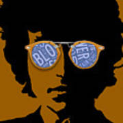 Bob Dylan Blowin In The Wind Art Print
