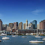 Boston Skyline North End And Financial District Art Print