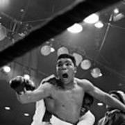 Cassius Clay After Winning Championship Art Print