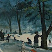 Central Park, Winter Art Print
