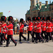 Changing Of The Guard In Ottawa Ontario Canada Art Print