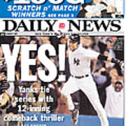 Daily News Front Page Derek Jeter Art Print