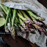 Fresh Green Asparagus Art Print