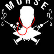 Funny Murse Male Nurse Hospital Medicine Gift Art Print