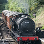 J27 Locomotive 65894 On North York Moors Railway Art Print