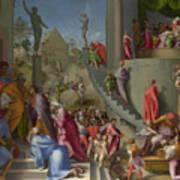 Joseph With Jacob In Egypt  Art Print