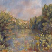 Lakeside Landscape  Art Print