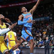 Los Angeles Lakers Vs Oklahoma City Art Print