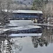 New England College Covered Bridge Art Print