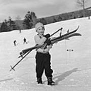 New England Skiing Art Print