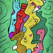 Psychedelic Animals Art Print