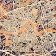 Rotterdam Netherlands City Map Art Print