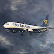 Ryanair Boeing 737-8as Art Print