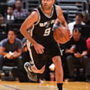 San Antonio Spurs V Los Angeles Lakers Art Print