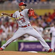 St Louis Cardinals V Miami Marlins Art Print
