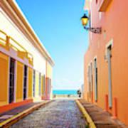 Streets Of San Juan - Puerto Rico Art Print