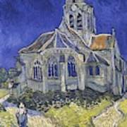 The Church In Auvers Sur Oise  View From The Chevet  Art Print