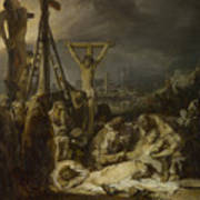 The Lamentation Over The Dead Christ  Art Print