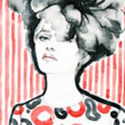 Woman Portrait .abstract Watercolor Art Print