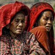 Women Of Nepal - Series Art Print