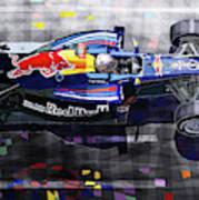 2010 Red Bull Rb6 Vettel Art Print