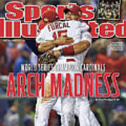 2011 World Series Game 7 - Texas Rangers V St Louis Sports Illustrated Cover Art Print