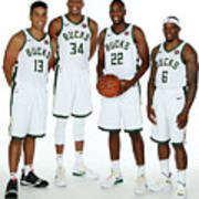 2018 Milwaukee Bucks Media Day Art Print
