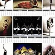 2019 High Resolution R Young Art Dance Calendar - Available Artw Art Print
