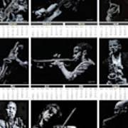 2019 High Resolution R Young Art Musicians Calendar Art Print