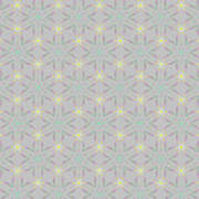 A Repeating Pattern Featuring A Multi-colored Conceptual Flower  Art Print
