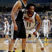 San Antonio Spurs V Memphis Grizzlies - Art Print