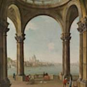 Capriccio With St. Pauls And Old London Bridge Art Print