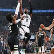 La Clippers V Milwaukee Bucks Art Print