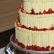 3 Layer Wedding Cake Art Print