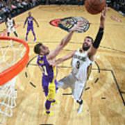 Los Angeles Lakers V New Orleans Art Print
