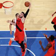 Portland Trail Blazers V New York Knicks Art Print