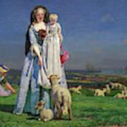 Pretty Baa-lambs Art Print