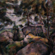 Rocks In The Forest  Art Print